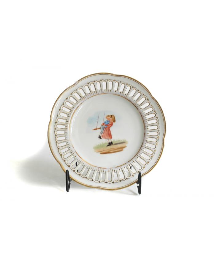 Malovaný talíř Březová