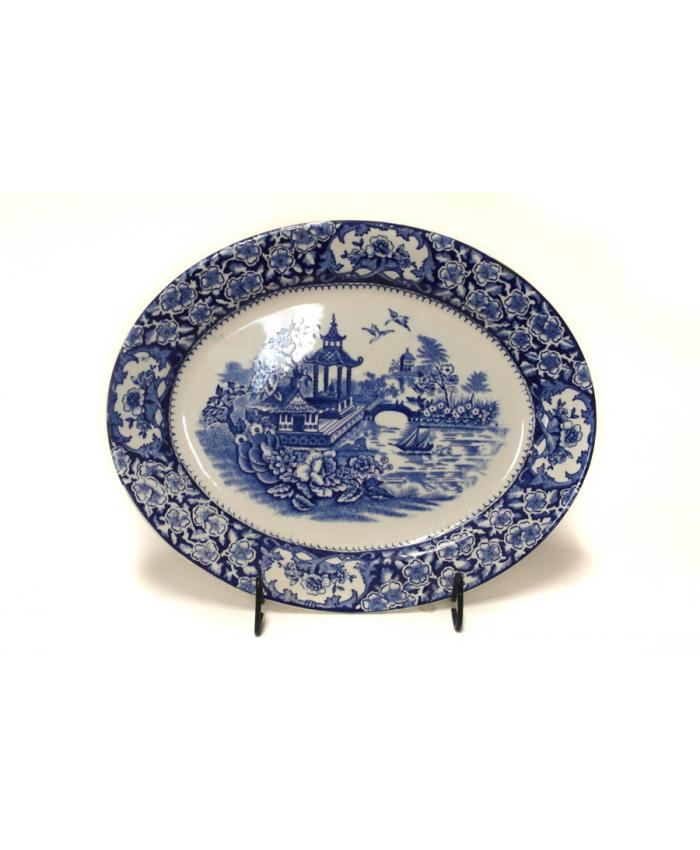 Oválný talíř s chinoserií
