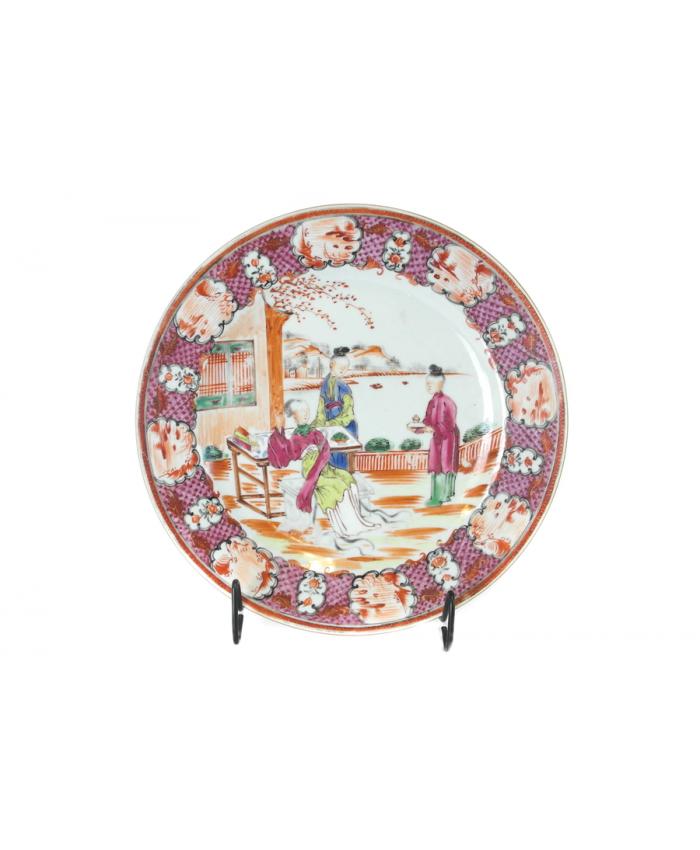 """Čínský talíř """"mandarýnský"""", 18. st."""