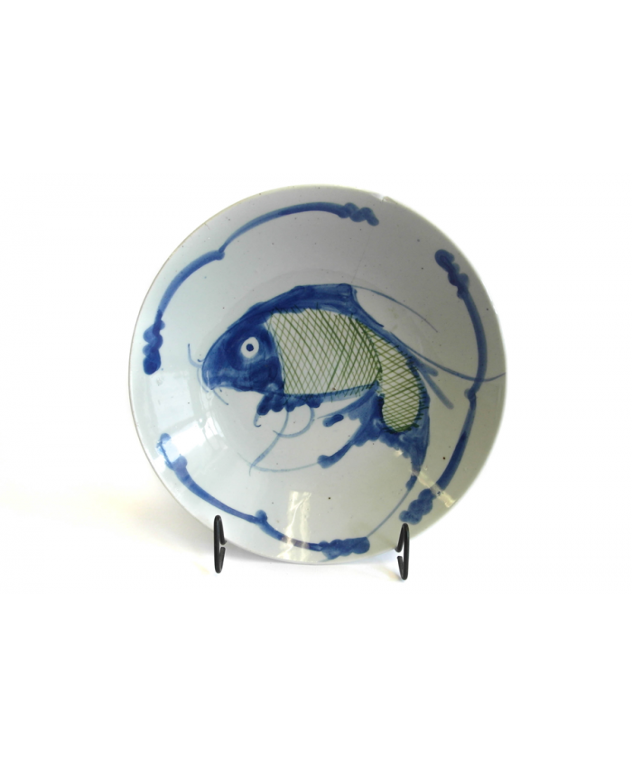 Čínský talíř, 19. st., Koi